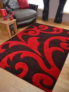 Modern Good Quality Dark Brown Red Rugs Small Extra Large Size Floor Carpets Mat