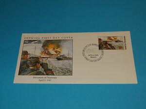 WWII FDC W5-2 Invasion of Norway * Occupied Until 1945 by Germany