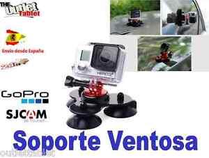 Soporte Ventosa Triple Vídeo Cámara GOOBANG DOO Deportiva
