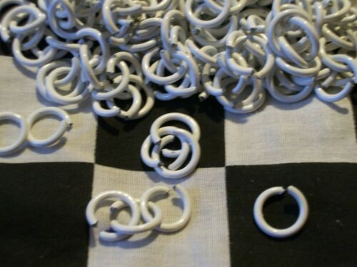 1//2 # WHITE POWDER COATED 14g STEEL JUMP RINGS CHAIN MAIL CRAFTS shirt jewelry