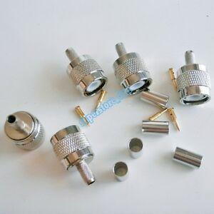 10X-TNC-Male-plug-crimp-For-RG58-RG142-RG400-LMR195-cable-RF-Connector