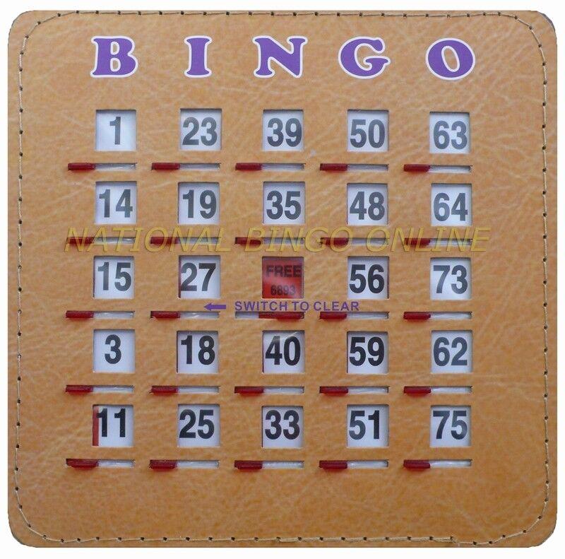 Deluxe Bingo Shutter Card (50 Count) Brand NEW