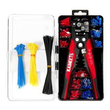 Crimping Tool Set Crimp Wire Stripper Plier Tools With 260pcs Wire Terminals Kit
