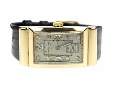 Hamilton Kal 982 14K 585 Gold Diamant Zifferblatt mechanische Armbanduhr um 1946