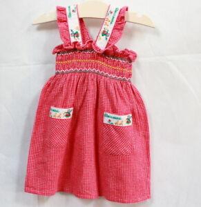 Robe Vintage Motifs Bécassine Coton 6 Mois Ferme En Structure