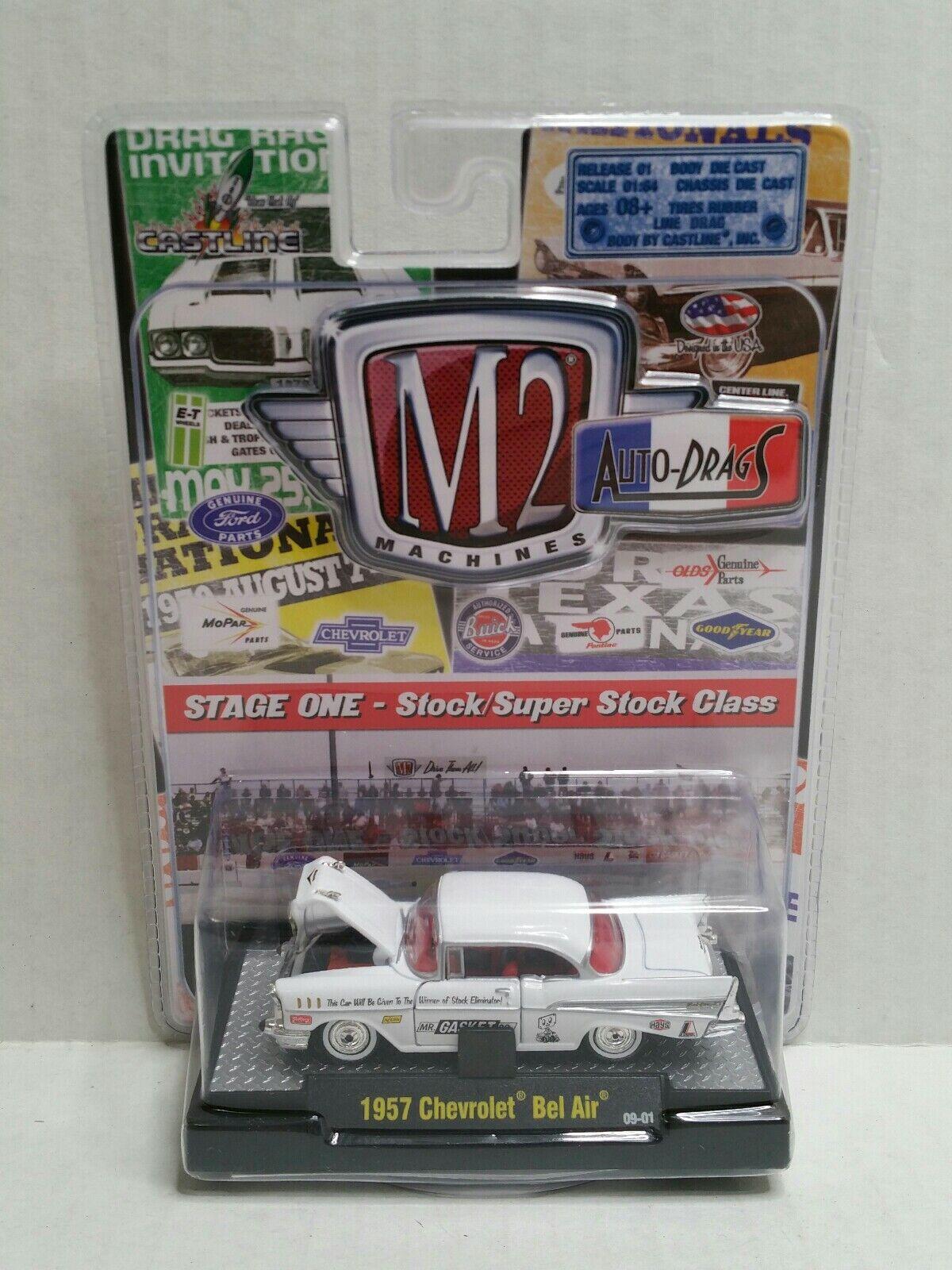 bienvenido a elegir Raro M2 máquinas auto-arrastra 1957 Chevrolet Bel Bel Bel Air Chase blancoo 1 de 500  la red entera más baja