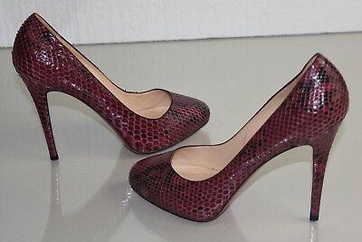 Neuf Christian Louboutin Declic 120 Python Bordeaux Pompe Caché Chaussures | eBay