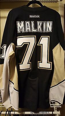 competitive price a2f43 f8c56 Authentic Pittsburgh Penguins Malkin vegas gold/black Jersey | eBay
