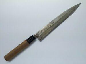 Japanese Kitchen Knife Yanagiba Vintage Signed OYAMA Hand Made Sashimi P144