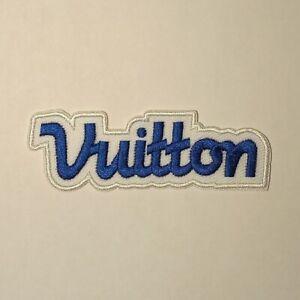 LOUIS-VUITTON-PATCH-Blue-Classic-Fashionista-Brand-New-Rare