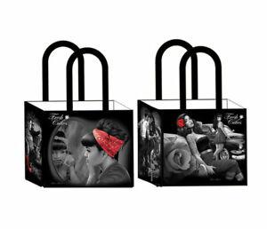 DGA Day of the Dead Art Shopping Tote Bag Reusable Aztec Warrior Calendar Mexica