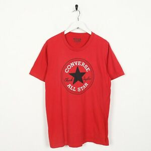Vintage-CONVERSE-Big-Logo-T-Shirt-Tee-Red-Small-S
