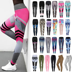 Women-039-s-Sports-Yoga-Pants-Leggings-Running-Gym-Athletic-Workout-Fitness-Trousers