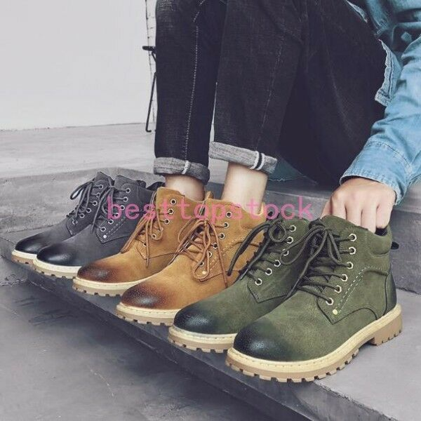 Mens Hot Sale  Miitary Lace Up Vintage Retro Ankle bOOTS Outdoor Works shoes