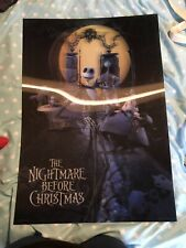 The Nightmare Before Christmas Poster Graveyard 3D Framed Lenticular 20x25cm