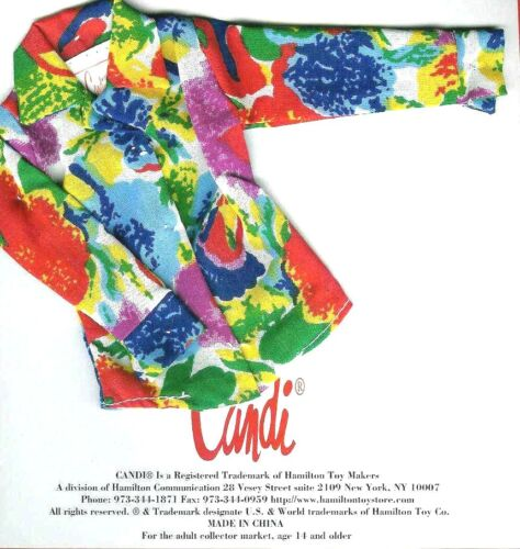 """12/"""" Fashion Dolls: Candi Barbie Integrity Floral Fits 11.5/"""" NEW Doll Blouse"""
