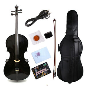 Intelligent Yinfente Electric Silent Cello 4/4 Maple+spruce Free Bag/bow/cable/rosin #ec1 To Produce An Effect Toward Clear Vision Cellos Musical Instruments & Gear