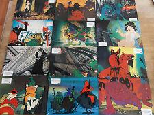 Fotosatz *** DIE WELT IN 10 MILLIONEN JAHREN 1977 Ralph Bakshi 12 Aushangfotos