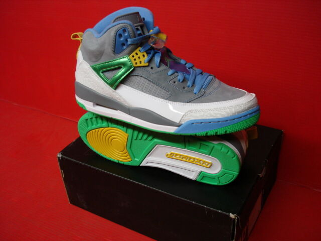 meet 88ed6 f2d1c Nike Jordan Spizike Easter Basketball Shoes Stealth Poison Green Blue  315371 056 for sale online   eBay