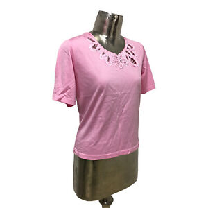 Emreco Top T-Shirt Pink UK Medium 12 (EU40) NEW Cotton Women's RRP £22