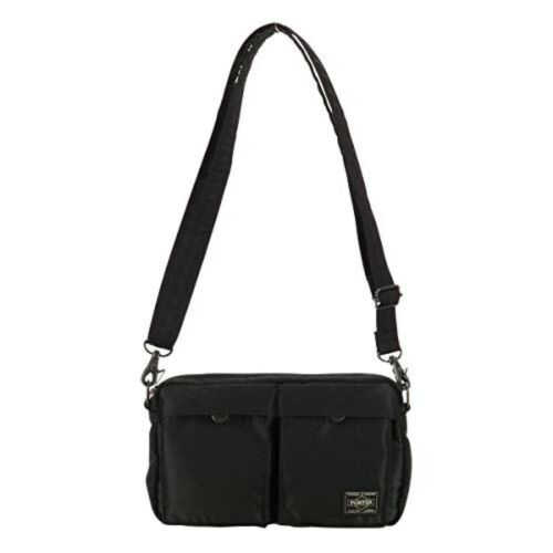 Yoshida PORTER 2way Shoulder Bag Black pouch TANKER 622-68809 JAPAN
