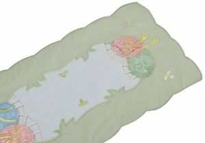 Easter-Egg-Embroidered-Cutwork-11-Inch-By-28-Inch-Mini-Easter-Table-Runner