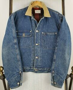 POLO-RALPH-LAUREN-Large-Mens-Made-in-USA-Wool-Blanket-Lined-Denim-Trucker-Jacket