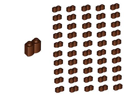 NEW!!! Lego Reddish Brown Modified Brick 1x2 10 pieces 30136