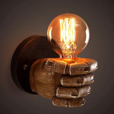 Retro Industrial Resin fist Corridor lamp loft Edison Wall Sconce lamp Fixture