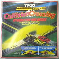 1980 Tyco Tcr Slot Less Car Command Control Collision Crossing Track Set 6436