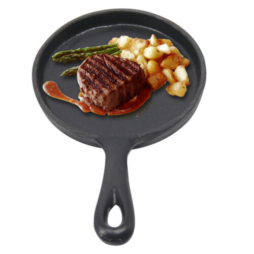 Cast Iron Frying Enamel Pan Grill BBQ Skillet Pancake Reversible Griddle Plate