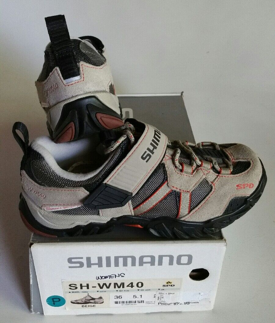 NEW Shimano SH-WM40 Women's Beige Cycling Cleat shoes Multiple Sizes  36,37,38  100% price guarantee