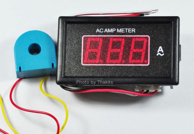 0-50A AC AMP Meter Digital Seven segment panel meter AC coil 9-12VAC/DC