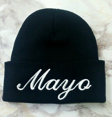 New Quality Mayo Embroidery Funny Blank Black Long Skull Beanie Winter Hat  | eBay