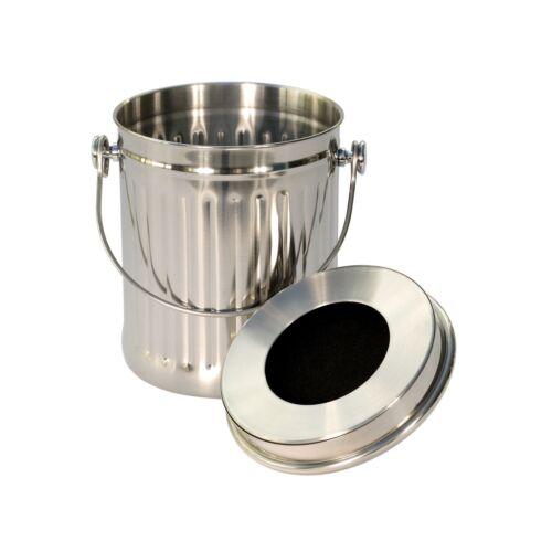 Cuisine en Acier Inoxydable Compost Seau//Caddy alimentaire-Bin/&150x6L Sacs compostables