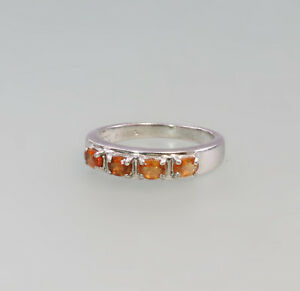 Obliging 8325331 Ring With Orange Coloured Stones 925 Silver Gr.55 Fine Rings Jewelry & Watches