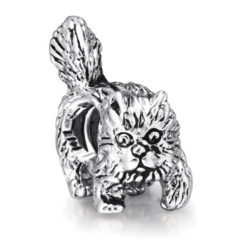 Lovely Small Animals Style Charm Bead Fit 3mm Fashion 925 Silver Bracelet Bangle