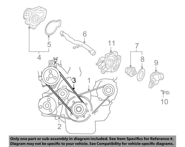 Acura Honda Oem 94 01 Integra 1 8l L4 Power Steering Belt