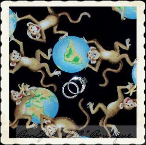 Boneful fabric fq cotton quilt black blue baby animal monkey world image is loading boneful fabric fq cotton quilt black blue baby gumiabroncs Image collections