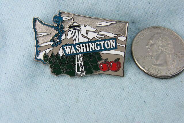 WILLABEE & WARD PIN WASHINGTON STATE COMES WITH STATISTICS CARD