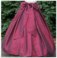 Ladies Victorian, American Civil War costume  fancy dress SKIRT & SASH  (BURG)