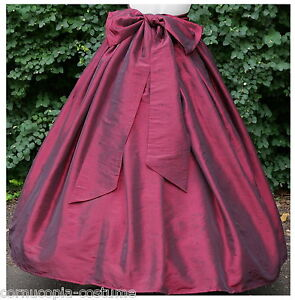 Ladies-Victorian-American-Civil-War-costume-fancy-dress-SKIRT-SASH-BURG