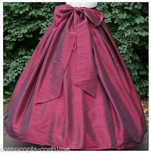 Ladies-Victorian-American-Civil-War-costume-fancy-dress-SKIRT-amp-SASH-BURG