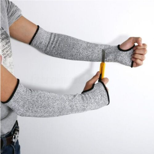 1//2X Safety Arm Sleeve Protect Anti Cut//Slash//Static Hands Long Protector Gloves