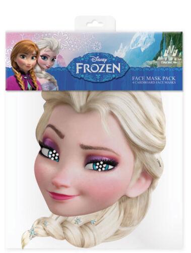 Frozen Maske hochwertiger Glanzkarton mit Augenlöchern Elsa