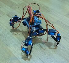 "Quadruped Four Feet Robot ""Hexapod"" Spider Arduino DIY Robot KIT 12DOF NO SERVOS"