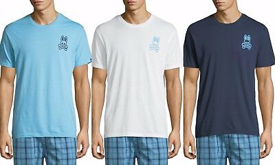 Psycho Bunny Men/'s Short Sleeve Classic Big Bunny Logo Crewneck T-Shirt