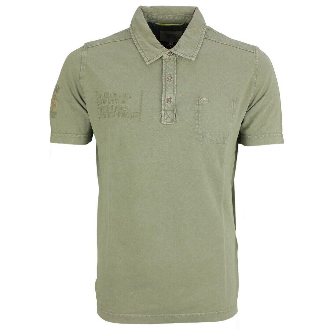Camel Active Men's Polo Shirt Pique Green Plain 118216 73