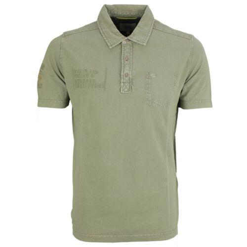 Camel active Herren Polo Shirt Pique grün Unifarben 118216 73