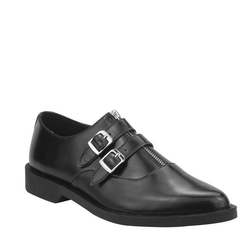 T.U.K A8653 Tuknoir Zip W   2 Boucles Pointu Chaussure Jam